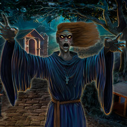 Shtriga: Summer Camp - In the hidden object game Shtriga: Summer Camp, you must capture the spirit of a dead witch before she claims another victim! - logo