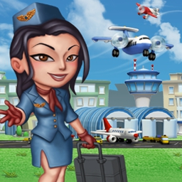 Skyrama - Get ready for takeoff in Skyrama, a fun new MMO and Time Management game in which you run an airport. - logo