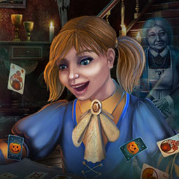 Solitaire Game: Halloween - Trick or treat! Get 120 Halloween-themed solitaire layouts in the classic card game Solitaire Game: Halloween! - logo