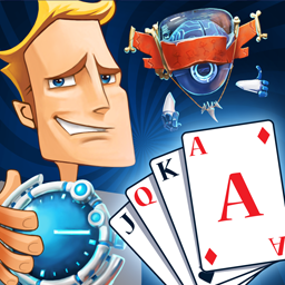 Solitaire Ted And PET - Check out 12 unforgettable time periods and earn tons of memorable trophies! - logo
