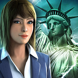 Statue of Liberty - The Lost Symbol - The Statue of Liberty's flame has disappeared! Find out who took it in the hidden object game Statue of Liberty - The Lost Symbol. - logo