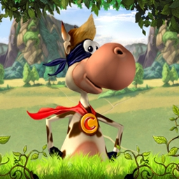 Supercow - Save the Earth and its farm animals from the evil Professor Duriarti. - logo