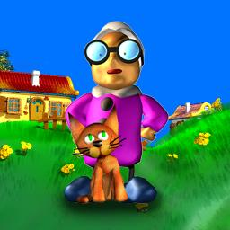 Super Granny - Help Super Granny outsmart the gnomes in this fun and funny puzzler! - logo