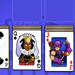 Super Hero Squad Solitaire - Use the powers of the Super Hero Squad to super-charge the fun in Solitaire! Each Super Hero you reveal has special powers that help you out! - logo