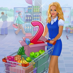 Supermarket Management 2 - Supermarket Management 2 features plenty of time management gameplay and whimsical characters. Start small and expand into a megamart! - logo
