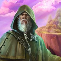 The Far Kingdoms: Magic Mosaics - Help a wizard find his way home in the puzzle game The Far Kingdoms: Magic Mosaics! - logo