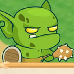 Tiny Battle - Control the human army. Battle invading orcs in this fantasy medieval tower defense game. - logo