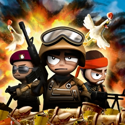 Tiny Troopers - It's a bloody mess!  Lead your tiny soldiers through 30 deadly missions in the action strategy game Tiny Troopers! - logo