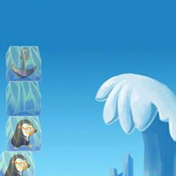 Ice Tower Blocks - Using a swinging crane, stack the Ice Tower Blocks as high as you can.  Watch out!  Let too many fall and it's game over. - logo