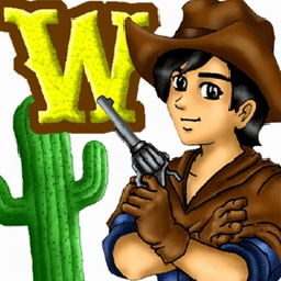 Wild West Billy - Remember Hangman?  Untie this guy and help him become a hero! - logo