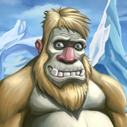 Yeti Quest - Help Yeti and his crazy penguin pals save their Antarctic island home from the ice storm!  Play Yeti Quest today! - logo