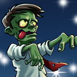 Zombie Solitaire - Brain-devouring zombies are overrunning the city!  The only way to escape is by puzzling your way to safety in Zombie Solitaire! - logo